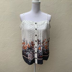 Anthropologie Maeve 100% Silk Cami Capitola Top